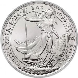 2014 1 oz British Silver Britannia (BU)