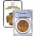 $20 Saint Gaudens Gold Double Eagle (MS62)