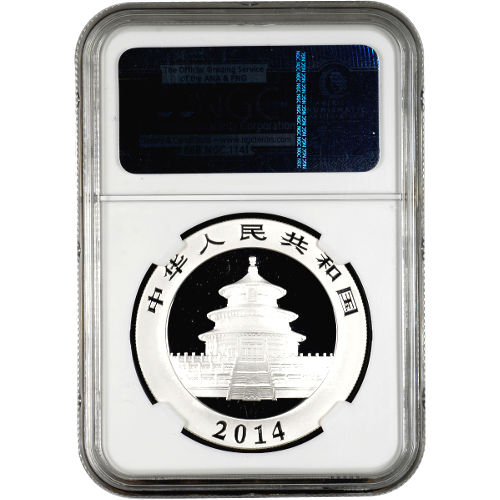 2014 1 oz Chinese Silver Panda NGC MS69
