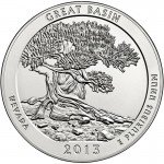 2013 5 oz ATB Great Basin Silver Coin (BU)